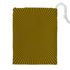 Stripy Starburst Effect Light Orange Green Line Drawstring Pouches (xxl) by Mariart