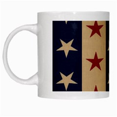 Stars Stripes Grey Blue White Mugs by Mariart
