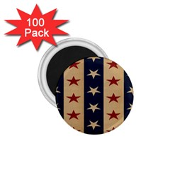 Stars Stripes Grey Blue 1 75  Magnets (100 Pack)  by Mariart