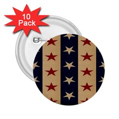 Stars Stripes Grey Blue 2 25  Buttons (10 Pack)  by Mariart
