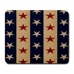 Stars Stripes Grey Blue Large Mousepads by Mariart