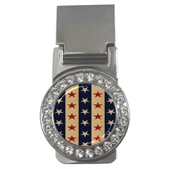 Stars Stripes Grey Blue Money Clips (cz)  by Mariart
