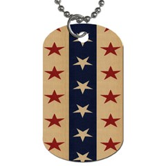 Stars Stripes Grey Blue Dog Tag (two Sides) by Mariart