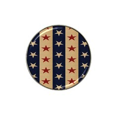 Stars Stripes Grey Blue Hat Clip Ball Marker (4 Pack)