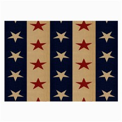 Stars Stripes Grey Blue Large Glasses Cloth (2 Side) by Mariart