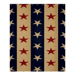 Stars Stripes Grey Blue Shower Curtain 60  X 72  (medium)  by Mariart