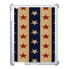 Stars Stripes Grey Blue Apple Ipad 3/4 Case (white) by Mariart