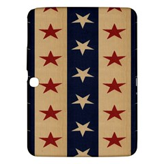 Stars Stripes Grey Blue Samsung Galaxy Tab 3 (10 1 ) P5200 Hardshell Case  by Mariart