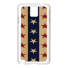Stars Stripes Grey Blue Samsung Galaxy Note 3 N9005 Case (white) by Mariart