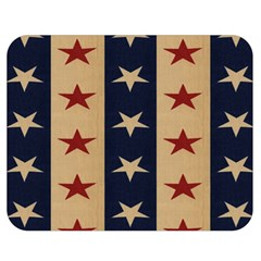 Stars Stripes Grey Blue Double Sided Flano Blanket (medium)  by Mariart