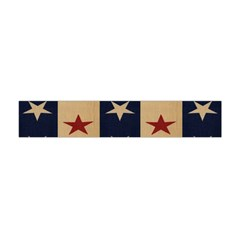 Stars Stripes Grey Blue Flano Scarf (mini) by Mariart