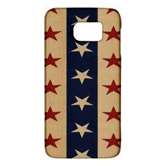 Stars Stripes Grey Blue Galaxy S6 by Mariart