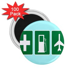 Traffic Signs Hospitals, Airplanes, Petrol Stations 2 25  Magnets (100 Pack)  by Mariart