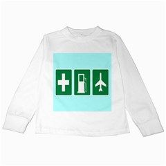 Traffic Signs Hospitals, Airplanes, Petrol Stations Kids Long Sleeve T Shirts by Mariart