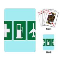 Traffic Signs Hospitals, Airplanes, Petrol Stations Playing Card by Mariart