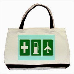 Traffic Signs Hospitals, Airplanes, Petrol Stations Basic Tote Bag by Mariart