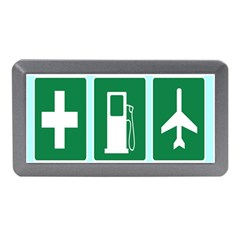 Traffic Signs Hospitals, Airplanes, Petrol Stations Memory Card Reader (mini) by Mariart