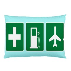 Traffic Signs Hospitals, Airplanes, Petrol Stations Pillow Case (two Sides) by Mariart