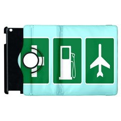 Traffic Signs Hospitals, Airplanes, Petrol Stations Apple Ipad 3/4 Flip 360 Case by Mariart