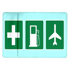 Traffic Signs Hospitals, Airplanes, Petrol Stations Samsung Galaxy Tab 10 1  P7500 Flip Case by Mariart