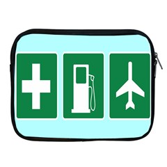 Traffic Signs Hospitals, Airplanes, Petrol Stations Apple Ipad 2/3/4 Zipper Cases by Mariart