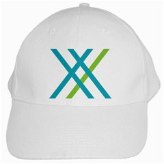 Symbol X Blue Green Sign White Cap by Mariart