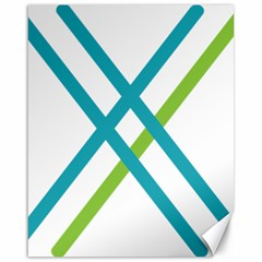 Symbol X Blue Green Sign Canvas 16  X 20   by Mariart