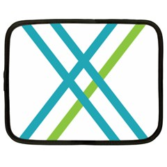 Symbol X Blue Green Sign Netbook Case (large) by Mariart