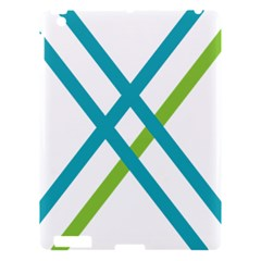 Symbol X Blue Green Sign Apple Ipad 3/4 Hardshell Case by Mariart