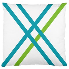 Symbol X Blue Green Sign Large Cushion Case (one Side)