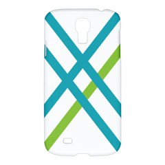Symbol X Blue Green Sign Samsung Galaxy S4 I9500/i9505 Hardshell Case by Mariart