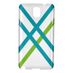 Symbol X Blue Green Sign Samsung Galaxy Note 3 N9005 Hardshell Case by Mariart