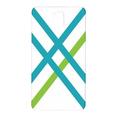 Symbol X Blue Green Sign Samsung Galaxy Note 3 N9005 Hardshell Back Case by Mariart