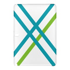 Symbol X Blue Green Sign Samsung Galaxy Tab Pro 12 2 Hardshell Case