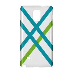 Symbol X Blue Green Sign Samsung Galaxy Note 4 Hardshell Case by Mariart