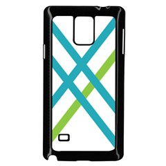 Symbol X Blue Green Sign Samsung Galaxy Note 4 Case (black) by Mariart