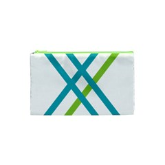 Symbol X Blue Green Sign Cosmetic Bag (xs) by Mariart