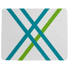 Symbol X Blue Green Sign Jigsaw Puzzle Photo Stand (rectangular) by Mariart