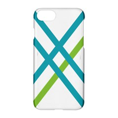 Symbol X Blue Green Sign Apple Iphone 7 Hardshell Case by Mariart