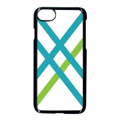 Symbol X Blue Green Sign Apple Iphone 7 Seamless Case (black) by Mariart