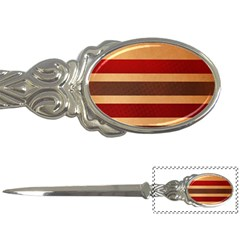 Vintage Striped Polka Dot Red Brown Letter Openers by Mariart