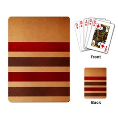 Vintage Striped Polka Dot Red Brown Playing Card by Mariart