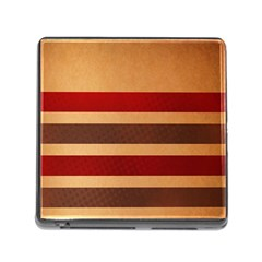 Vintage Striped Polka Dot Red Brown Memory Card Reader (square) by Mariart