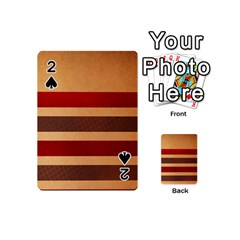 Vintage Striped Polka Dot Red Brown Playing Cards 54 (mini)  by Mariart