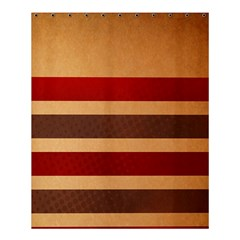 Vintage Striped Polka Dot Red Brown Shower Curtain 60  X 72  (medium)  by Mariart