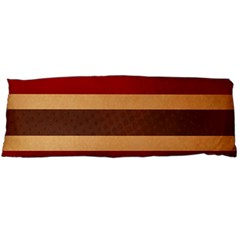 Vintage Striped Polka Dot Red Brown Body Pillow Case (dakimakura) by Mariart