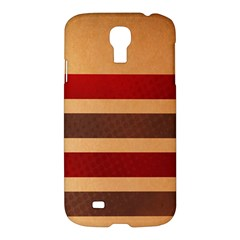 Vintage Striped Polka Dot Red Brown Samsung Galaxy S4 I9500/i9505 Hardshell Case by Mariart