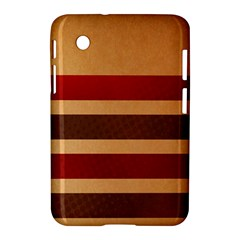 Vintage Striped Polka Dot Red Brown Samsung Galaxy Tab 2 (7 ) P3100 Hardshell Case  by Mariart