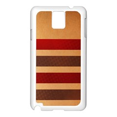 Vintage Striped Polka Dot Red Brown Samsung Galaxy Note 3 N9005 Case (white) by Mariart