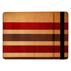 Vintage Striped Polka Dot Red Brown Samsung Galaxy Tab Pro 12 2  Flip Case by Mariart